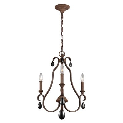 Roberts 3-Light Candle-Style Chandelier Finish: Weathered Iron
