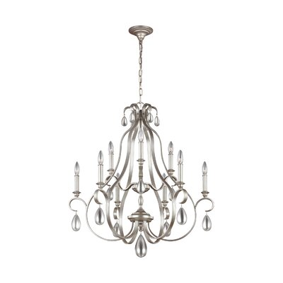Roberts 9-Light Candle-Style Chandelier Finish: Sunrise Silver