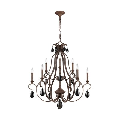 Roberts 9-Light Candle-Style Chandelier Finish: Weathered Iron
