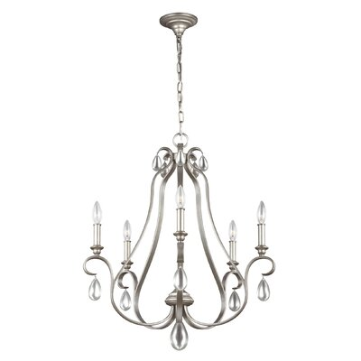 Roberts 5-Light Candle-Style Chandelier Finish: Sunrise Silver