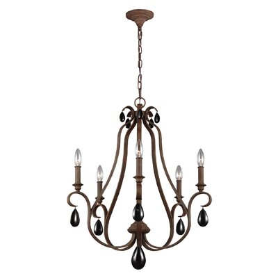 Roberts 5-Light Candle-Style Chandelier Finish: Weathered Iron