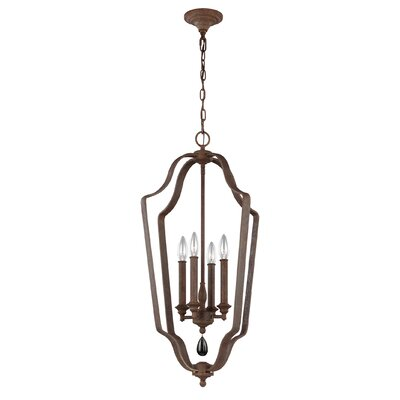 Roberts 4-Light Foyer Pendant Finish: Weathered Iron