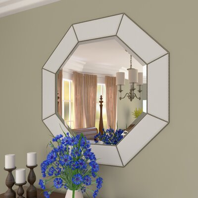 Anson Beaded Octagon Wall Mirror
