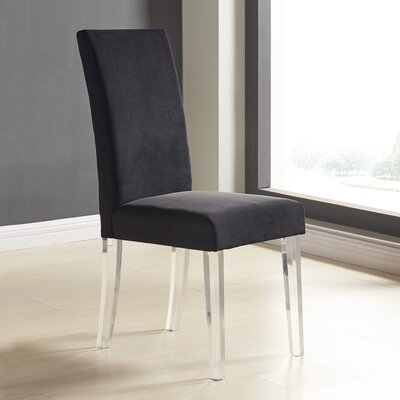 Arae Parsons Chair Upholstery: Black