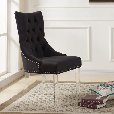Cliveden Side Chair Upholstery: Black