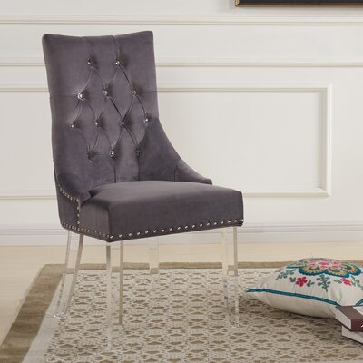 Cliveden Side Chair Upholstery: Gray