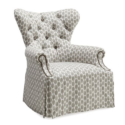 Posen Tufted Back Skirted Wing Arm Chair