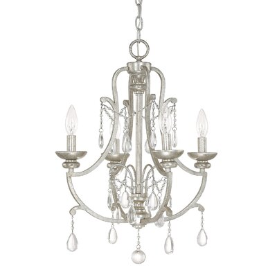 Prunella 4-Light Crystal Chandelier