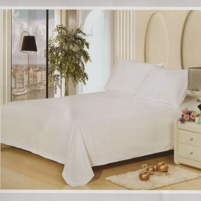 Julien 1600 Thread Count Sheet Set Size: Full, Color: White