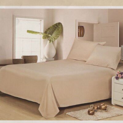 Julien 1600 Thread Count Sheet Set Size: Queen, Color: Beige