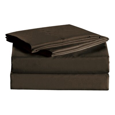 Julien 1600 Thread Count Sheet Set Size: King, Color: Coffee