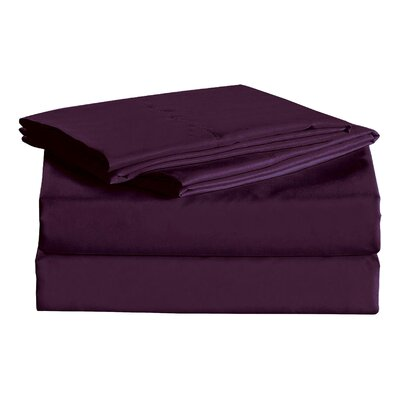 Macclesfield 1600 Thread Count Sheet Set Size: Full, Color: Dark Purple