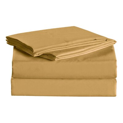 Julien 1600 Thread Count Sheet Set Size: Queen, Color: Yellow