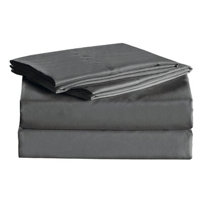 Julien 1600 Thread Count Sheet Set Color: Gray, Size: King