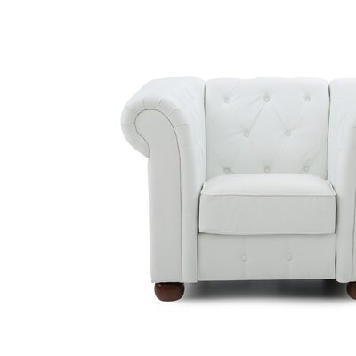 Katherina Armchair Color: White