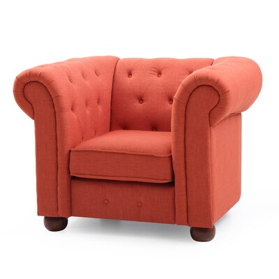 Katherina Armchair Color: Orange