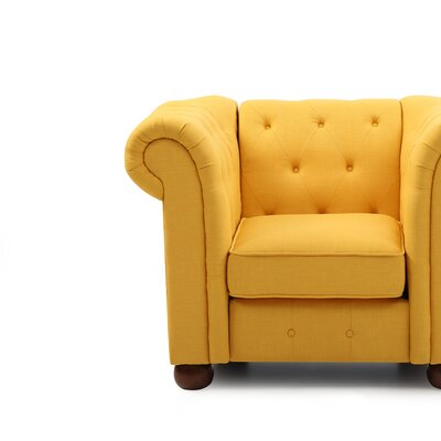 Katherina Armchair Color: Yellow