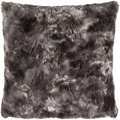 Nathon Pillow Cover Size: 18 x 18, Color: Black/Gray