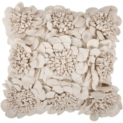 Fultz Felt Garden Wool Pillow Cover Size: 22 H x 22 W x 0.25 D, Color: Neutral