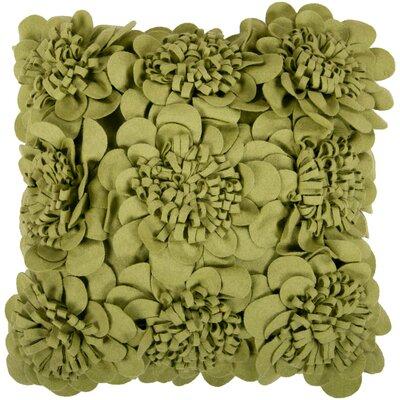 Fultz Felt Garden 100% Wool Throw Pillow Cover Size: 22