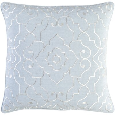 Durbin Linen Pillow Cover Size: 20 H x 20 W x 0.25 D, Color: Gray