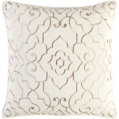 Durbin Linen Pillow Cover Size: 20 H x 20 W x 0.25 D, Color: Neutral