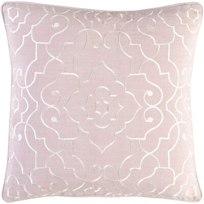 Durbin Linen Pillow Cover Size: 20 H x 20 W x 0.25 D, Color: Pink