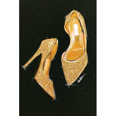 Jimmy Choo Glitter Painting Print on Wrapped Canvas Size: 12