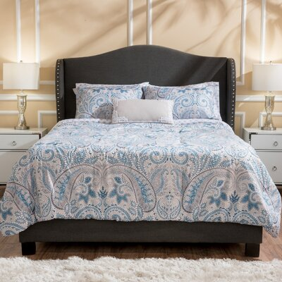 Alabaster Dark Grey Upholstered Bed Set