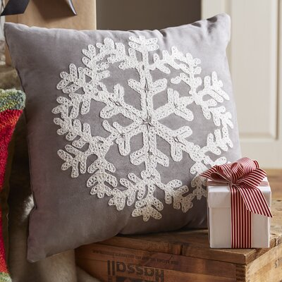 Woodbridge Snowflake Throw Pillow Color: Gray