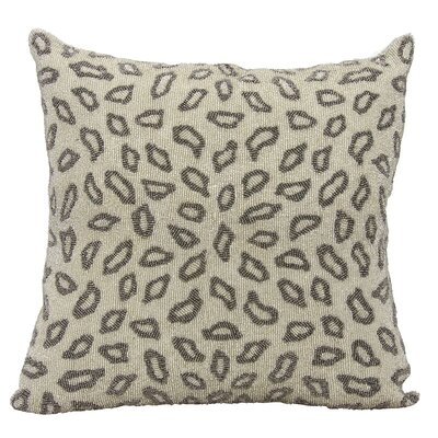 Elfand Beaded Leopard Throw Pillow