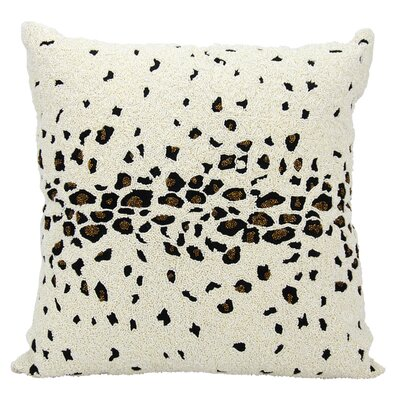 Marietta Beaded Leopard Throw Pillow