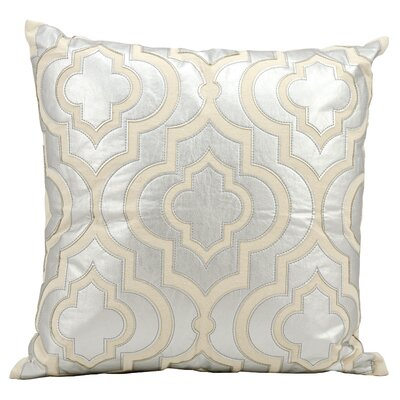 Vivaan Laser Cut Lantern Throw Pillow Color: Silver