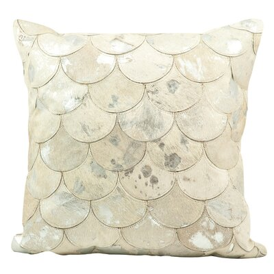 Rippy Metallic Balloons Leather Throw Pillow Color: White/Silver