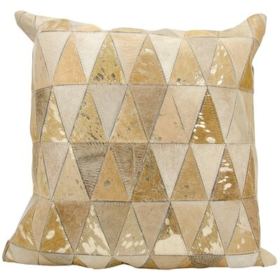 Fiennes Triangles Throw Pillow Color: Beige/Gold