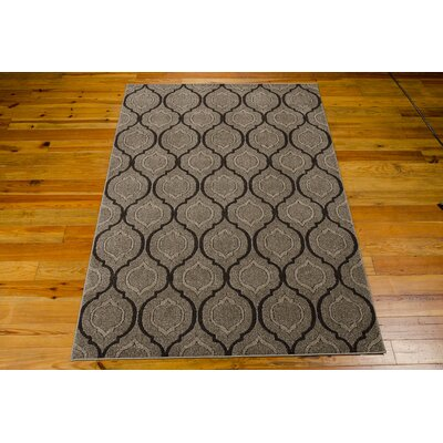 Gabor Brown Area Rug Rug Size: 53 x 76