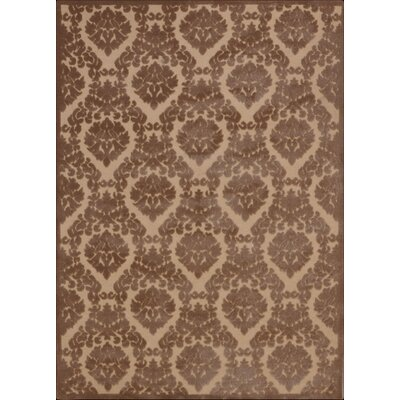 Hartz Beige/Mocha Area Rug Rug Size: Rectangle 53 x 73