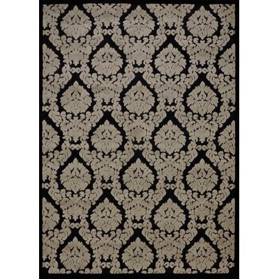 Hartz Black/Beige Area Rug Rug Size: Rectangle 36 x 56