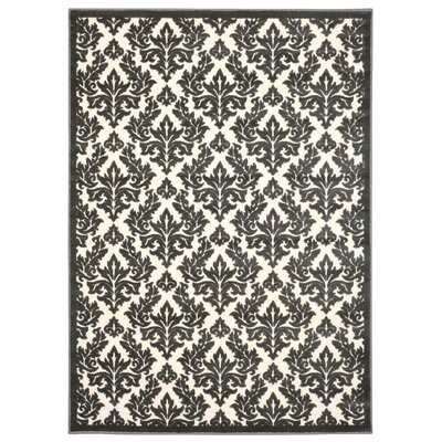 Hartz Ivory/Gray Area Rug Rug Size: Rectangle 76 x 96