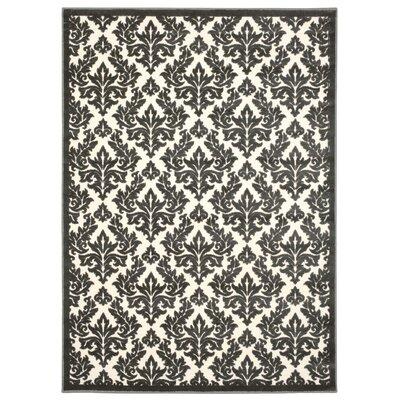 Hartz Ivory/Gray Area Rug Rug Size: 76 x 96