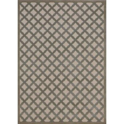 Hartz Ivory/Green Area Rug Rug Size: 53 x 73