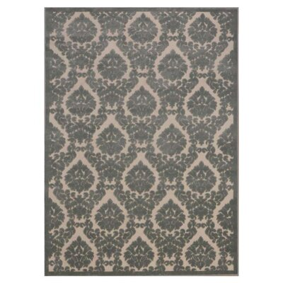 Hartz Ivory/Green Area Rug Rug Size: 5'3