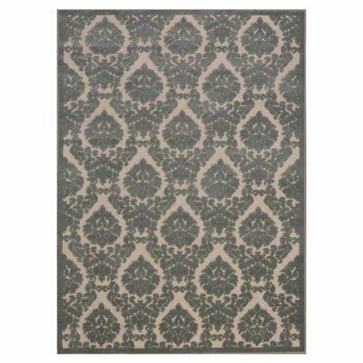 Hartz Ivory/Green Area Rug Rug Size: 7'9