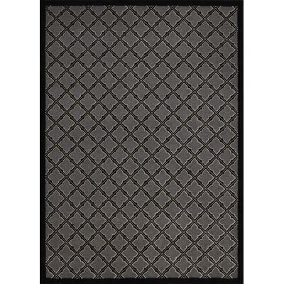 Hartz Silver/Black Area Rug Rug Size: 53 x 73