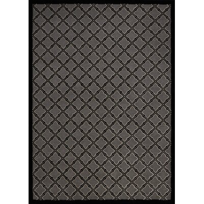 Hartz Silver/Black Area Rug Rug Size: Rectangle 53 x 73