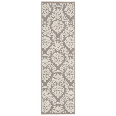 Hartz Silver/Ivory Area Rug Rug Size: Runner 22 x 7