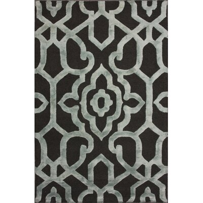 Rocha Hand-Woven Gray/Black Area Rug Rug Size: Rectangle 5 x 8