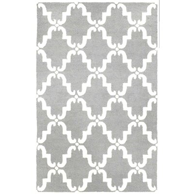 Stambruges Hand Tufted Wool Gray/White Area Rug Rug Size: 2 x 3