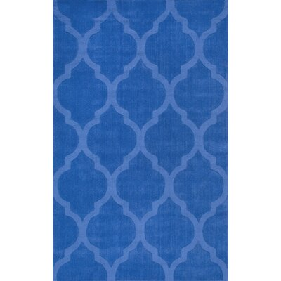 Stambruges Hand-Woven Blue Area Rug Rug Size: 76 x 96