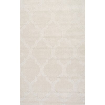 Alonza Hand-Woven Cream Area Rug Rug Size: 5 x 8